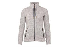 Damen Fleecejacke Hedy - light grey