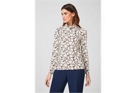 Damen Shirt - ecru/multicolor
