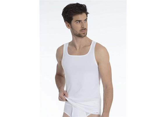 Herren Athletic Shirt - S - weiss