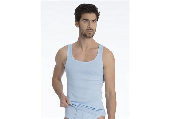Herren Athletik - Shirt - Gr. S - hellblau